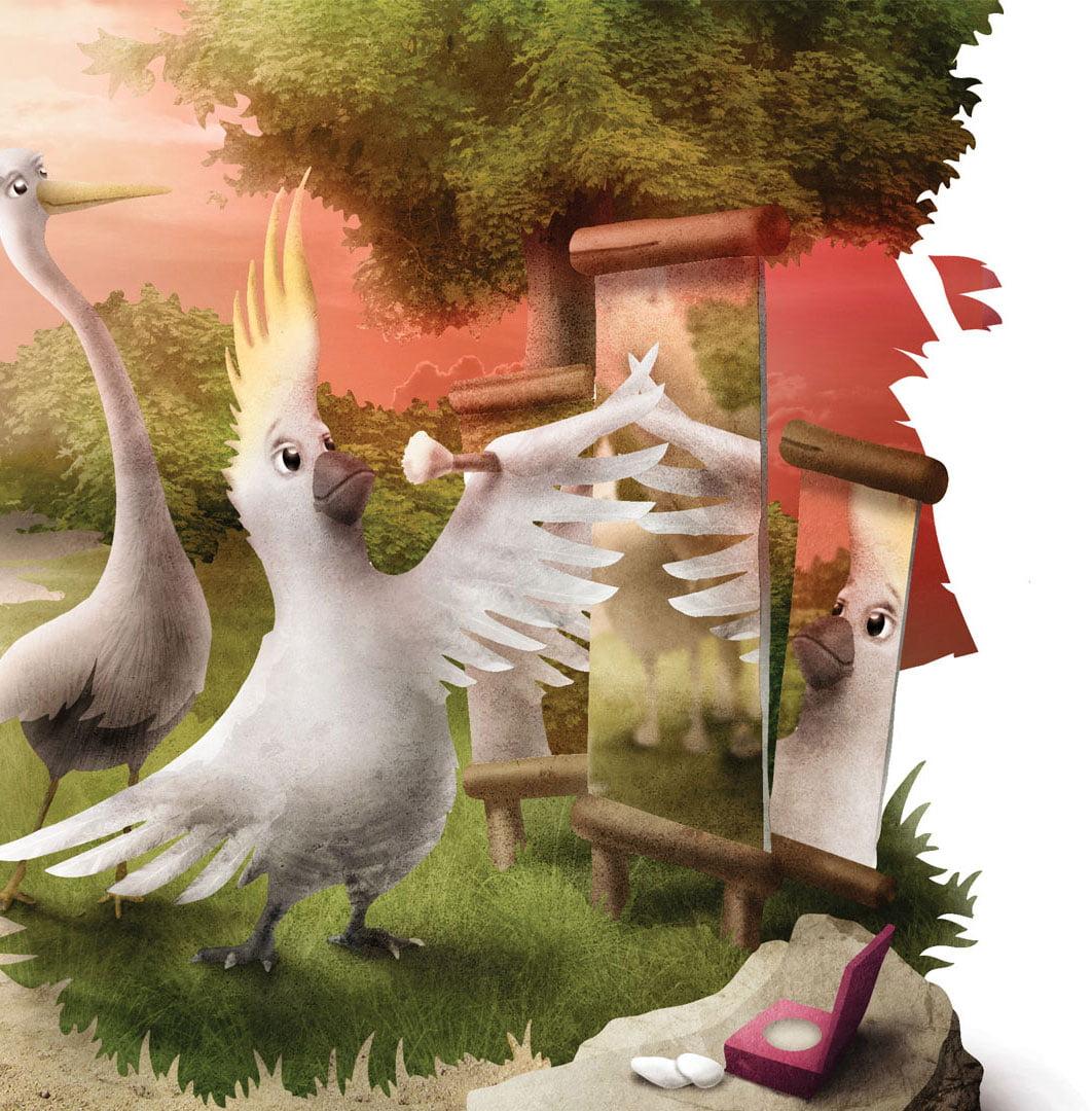 Ilustracje do książki Mądrość z Natury autorstwa LŻ Studio